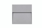 Grey Square Diffused Outdoor Wall Light (40-002)