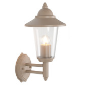 Taupe Metal Lantern Outdoor Wall Light (40-010)