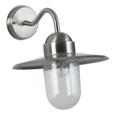 Brushed Steel Fisherman Outdoor Wall Light (40-012)