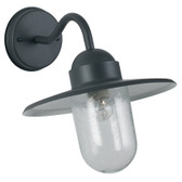 Dark Grey Metal Fisherman Outdoor Wall Light (40-014)