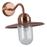 Copper Metal Fisherman Outdoor Wall Light (40-015)