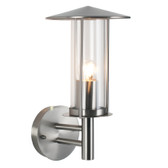 Brushed Steel Chimney Outdoor Wall Light (40-007)