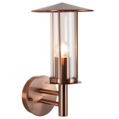 Copper Metal Chimney Outdoor Wall Light (40-008)