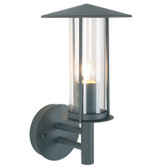 Dark Grey Metal Chimney Outdoor Wall Light (40-009)