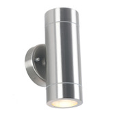 Brushed Steel Metal Outdoor Dual Wall Light (40-016)