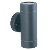 Dark Grey Metal Outdoor Dual Wall Light