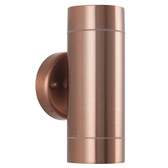 Copper Metal Outdoor Dual Wall Light