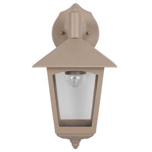 Taupe Lantern Outdoor Wall Light (40-027)