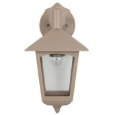 Taupe Lantern Outdoor Wall Light (40-027)