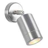 Brushed Steel Outdoor Adjustable Spot Light (40-022)