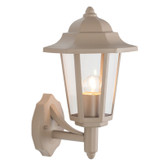 Taupe Metal Hex Lantern Outdoor Wall Light (40-029)