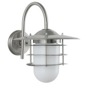 Brushed Steel Outdoor Wall Light (40-036)