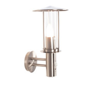 Brushed Steel PIR Chimney Outdoor Wall Light (40-045)
