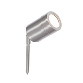 Brushed Steel Adjustable Ground Spike Outdoor Spot Light (40-047)