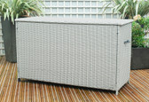 Large Rattan Cushion Storage Box Stone Grey (18-135-STG)