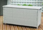 Small Rattan Cushion Storage Box Stone Grey (18-137-STG)
