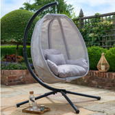 Folding Textilene Hanging Swing Chair Grey (23014)
