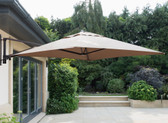 Wall Mounted Cantilever Parasol 2x2m Taupe