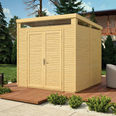 Paramount Pent Security Shed 8x8 Natural (BCSEC88N)