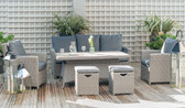 Barbados Relaxed Dining Set With Height Adjustable Table Slate Grey (18-217-SG)