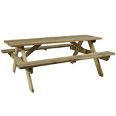 Hereford 6 Seater Wooden Picnic Table