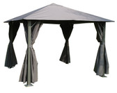 Glendale Highfield Metal Gazebo Grey 3x3m (GL1708)
