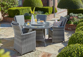 Burnham XL 4 Seater Round Dining Set