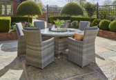 Burnham XL 6 Seater Round Dining Set