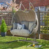 Goldcoast Double Hanging Swing Chair Grey