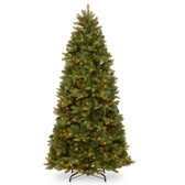7FT Feel Real Newberry Spruce Slim LED Artificial Tree 2.1M (PEND2-304LB-70)