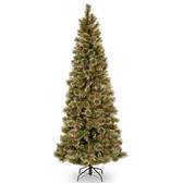 6.5FT Sparkling Pine Slim Artificial Tree 1.95M