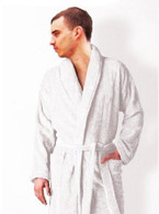 white terry towelling bathrobe by John Christian