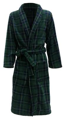 green tartan bathrobe