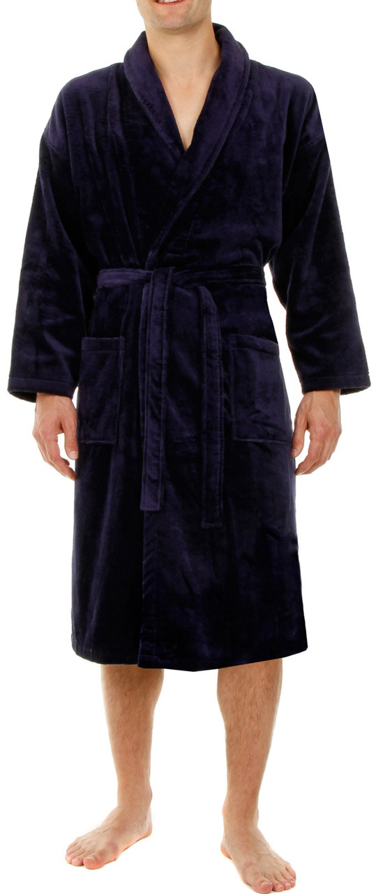Home · Terry Towelling Bathrobes  John Christian Velour   Towelling Bathrobe  - Navy Blue. navy velour bathrove by John Christian. Click to enlarge 2d68e4b8a