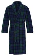 Men's Warm Fleece Dressing Gown - Blackwatch Tartan