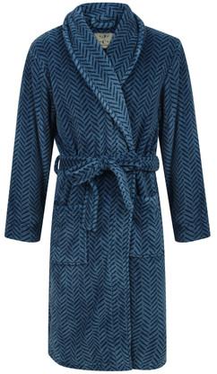 Blue Herringbone Robe
