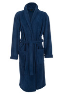 Navy Blue Fleece Dressing Gown