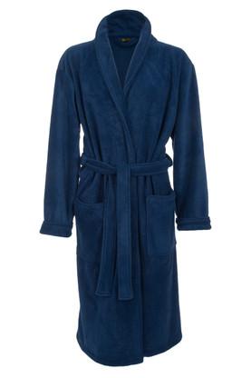 Navy Blue Fleece Dressing Gown