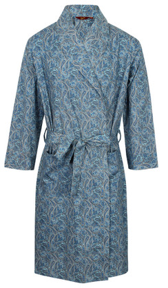 Turquoise paisley dressing gown