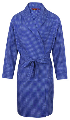Blue dotted dressing gown by Somax