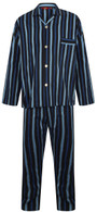 Navy and blue striped pyjamas