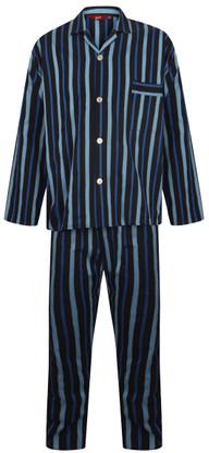 Navy and blue striped pyjamas