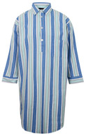 Somax Blue Striped Flannelette Nightshirt