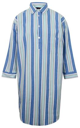 Somax Blue Striped Flannelette Nightshirt