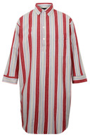 Somax Cotton Flannel Nightshirt, Red Stripe