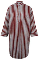 Wine Red Striped Nightshirt