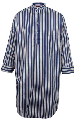 Somax Navy Blue Striped Nightshirt