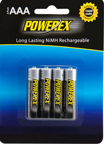 Maha 1000 mAh AAA NiMH batteries - 4 pack