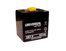 Sealed Lead Acid Battery - UB610 - 1Ah 6v