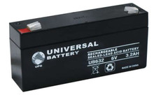 Sealed Lead Acid Battery - UB632L - 3.2Ah 6v